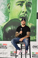 LOS ANGELES, CA - APRIL 28: Andy Ruiz Jr. attends the press conference for the Andy Ruiz Jr. vs Chris Arreola Fox Sports PBC Pay-Per-View in Los Angeles, California on April 28, 2021. The PPV fight is on May 1, 2021 at Dignity Health Sports Park in Carson, CA. (Photo by Frank Micelotta/Fox Sports/PictureGroup)