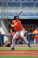 Baltimore Orioles Cody Roberts (55) at bat during a Florida Instructional League game against the Tampa Bay Rays on October 1, 2018 at the Charlotte Sports Park in Port Charlotte, Florida.  (Mike Janes/Four Seam Images)