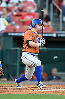 Durham Bulls third baseman Robby Price (6) at bat during a game against the Buffalo Bisons on July 10, 2014 at Coca-Cola Field in Buffalo, New  York.  Durham defeated Buffalo 3-2.  (Mike Janes/Four Seam Images)
