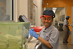 As part of the H.E.A.R.T. partnership with HISD, 17 high school students with disabilities are working and learning on the job at the Houston Food Bank.