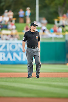 First base umpire Sean Ryan during the game between the Fresno Grizzlies and the Salt Lake Bees at Smith's Ballpark on September 3, 2017 in Salt Lake City, Utah. The Bees defeated the Grizzlies 10-8. (Stephen Smith/Four Seam Images)