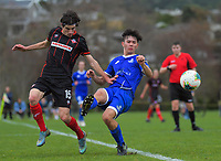 Action from the Central League Football match between Western Suburbs and Napier City Rovers at Endeavour Park in Wellington, New Zealand on Sunday, 23 August 2020. Photo: Dave Lintott / lintottphoto.co.nz