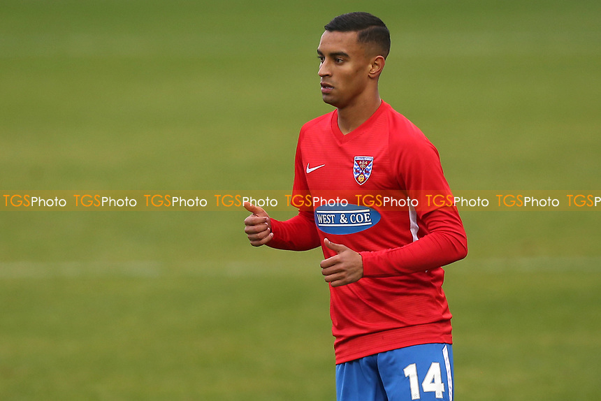 George Saunders of Dagenham and Redbridge during Dagenham & Redbridge vs Yeovil Town, Vanarama National League Football at the Chigwell Construction Stadium on 17th October 2020