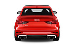 Straight rear view of a 2017 Audi RS 3 Base 4 Door Sedan stock images