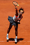 Serena Williams from USA during her Madrid Open tennis tournament match against Petra Kvitova from Czech Republic in Madrid, Spain. May 08, 2015. (ALTERPHOTOS/Victor Blanco)