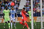 FC Barcelona's Ter Stegen receives a goal during La Liga match between CD Leganes and FC Barcelona at Butarque Stadium in Madrid, Spain. September 26, 2018. (ALTERPHOTOS/A. Perez Meca)
