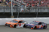 Monster Energy NASCAR Cup Series<br /> Pure Michigan 400<br /> Michigan International Speedway, Brooklyn, MI USA<br /> Sunday 13 August 2017<br /> Daniel Suarez, Joe Gibbs Racing, ARRIS Surfboard / McAfee Toyota Camry Denny Hamlin, Joe Gibbs Racing, FedEx Office Toyota Camry<br /> World Copyright: Matthew T. Thacker<br /> LAT Images