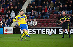 Hearts v St Johnstone...03.12.11   SPL .Dave Mackay scores from the penalty spot to make it 2-0.Picture by Graeme Hart..Copyright Perthshire Picture Agency.Tel: 01738 623350  Mobile: 07990 594431