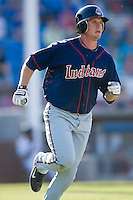 Johnny Drennen (22) of the Kinston Indians hustles down the first base line versus the Winston-Salem Warthogs at Ernie Shore Field in Winston-Salem, NC, Saturday, May 17, 2008.