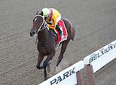 My Miss Aurelia at the wire in the Frizette Stakes.