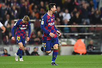 Lionel Messi celebrates after scoring a goal <br /> 07/12/2019 <br /> Barcelona - Maiorca<br /> Calcio La Liga 2019/2020 <br /> Photo Paco Largo Panoramic/insidefoto <br /> ITALY ONLY