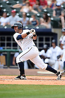 NW Arkansas Naturals first baseman Juan Graterol (35) at bat during a game against the Corpus Christi Hooks on May 26, 2014 at Arvest Ballpark in Springdale, Arkansas.  NW Arkansas defeated Corpus Christi 5-3.  (Mike Janes/Four Seam Images)
