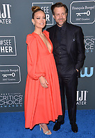 SANTA MONICA, USA. January 12, 2020: Olivia Wilde & Jason Sudeikis at the 25th Annual Critics' Choice Awards at the Barker Hangar, Santa Monica.<br /> Picture: Paul Smith/Featureflash