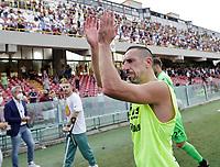 2nd October 2021; Arechi Stadium, Salerno, Italy; Serie A football, Salernitana versus Genoa : Frank Ribery of Salernitana  celebrates at the end of match