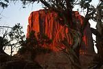 Merrick Butte at Sunset, Monument Valley, Arizona