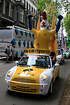 The Publicity Caravan runs through the city before the Prologue of the 99th edition of the Tour de France 2012, a 6.4km individual time trial starting in Parc d'Avroy, Liege, Belgium. 30th June 2012.<br /> (Photo by Eoin Clarke/NEWSFILE)
