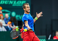 The Hague, The Netherlands, September 15, 2017,  Sportcampus , Davis Cup Netherlands - Chech Republic, Seccond Rubber: Lukas Rosol (CZE) <br /> Photo: Tennisimages/Henk Koster