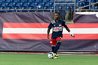 FOXBOROUGH, MA - SEPTEMBER 5: Michel #48 of New England Revolution II passes the ball during a game between Tormenta FC and New England Revolution II at Gillette Stadium on September 5, 2021 in Foxborough, Massachusetts.