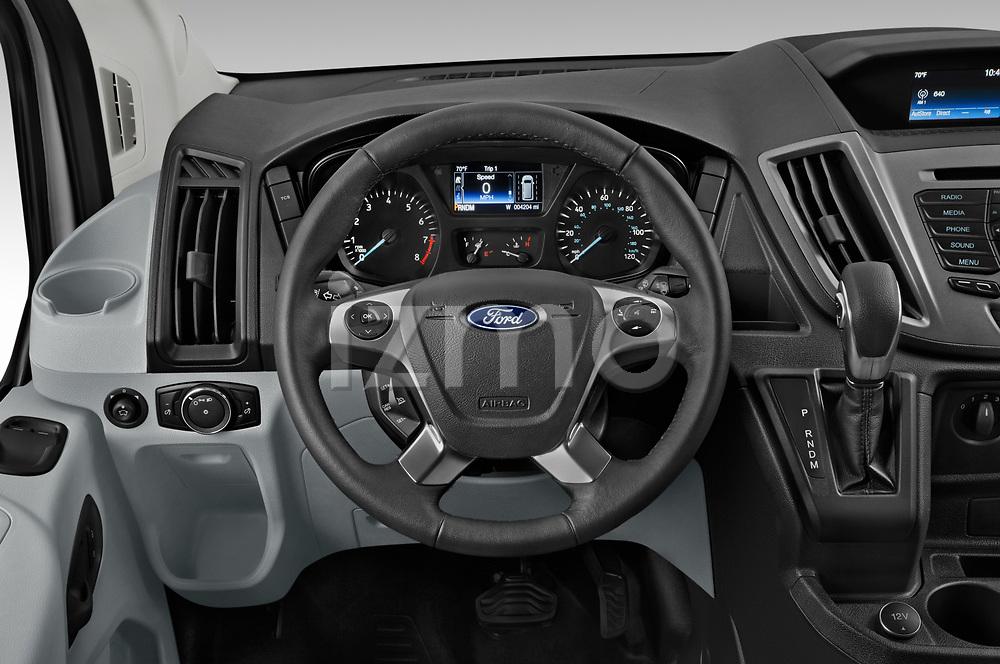 Car pictures of steering wheel view of a 2019 Ford Transit-Van - 4 Door Cargo Van Steering Wheel