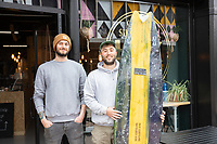 BNPS.co.uk (01202) 558833<br /> Pic: WillDax/BNPS<br /> <br /> Henry Huxstable (left) and Dan Hellyer work at Hux Customs - a Surfboards And Fibreglass Repair shop<br /> <br /> A complex of ten small independent businesses that are not paying rent or business rates could hold the answer for saving the British high street.<br /> <br /> Kingland is an ambitious initiative aimed at breathing new life into the struggling town centre in Poole, Dorset, which people said had become like a 'ghost town'.<br /> <br /> The new development has been billed as a 'boutique shopping experience' and the owners of the small independents do not have to pay any rent or business rates for the first two years.<br /> <br /> The shops offer a diverse range with a fishmonger, zero waste grocery store, custom surfboard maker, coffee shop, gallery, restored furniture shop, fragrance shop, plant and interiors shop, design studio and a gin bar and shop.