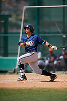 Atlanta Braves Anthony Concepcion (76) during a minor league Spring Training game against the Detroit Tigers on March 25, 2017 at ESPN Wide World of Sports Complex in Orlando, Florida.  (Mike Janes/Four Seam Images)