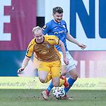 20.02.2021, xtgx, Fussball 3. Liga, FC Hansa Rostock - SV Waldhof Mannheim, v.l. Dennis Jastrzembski (Mannheim), Bjoern Rother (Hansa Rostock, 6) Zweikampf, Duell, Kampf, tackle <br /> <br /> (DFL/DFB REGULATIONS PROHIBIT ANY USE OF PHOTOGRAPHS as IMAGE SEQUENCES and/or QUASI-VIDEO)<br /> <br /> Foto © PIX-Sportfotos *** Foto ist honorarpflichtig! *** Auf Anfrage in hoeherer Qualitaet/Aufloesung. Belegexemplar erbeten. Veroeffentlichung ausschliesslich fuer journalistisch-publizistische Zwecke. For editorial use only.