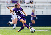 Tessa Leahy (16) of Fayetteville bring the ball upfield against St. Mary's Academy at Wildcat Stadium, Springdale, Arkansas, Friday, May 14, 2021 / Special to NWA Democrat-Gazette/ David Beach