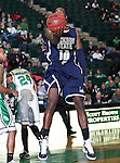 Jackson State Tigers guard Tyrone Hanson (10) goes in for the easy lay up in the game between the Jackson State Tigers and the University of North Texas Mean Green at the North Texas Coliseum,the Super Pit, in Denton, Texas. UNT defeated Jackson 68 to 49