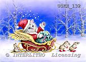 Kayomi, CHRISTMAS ANIMALS, paintings, SantaAndTheHelpers1_M, USKH132,#XA# Weihnachten, Navidad, illustrations, pinturas