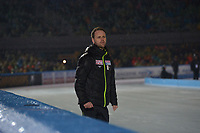 SCHAATSEN: AMSTERDAM: Olympisch Stadion, 09-03-2018, WK Allround, Coolste Baan van Nederland, Johan de Wit (coach JPN), ©foto Martin de Jong