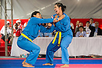 MANIK TRISNA DEWI Wetan and I GUSTI AGUNG Ngurah Suardyana of Indonesia in action during the Vovinam Mixed Events Self-defense for Women on Day Eight of the 5th Asian Beach Games 2016 at Bien Dong Park on 01 October 2016, in Danang, Vietnam. Photo by Marcio Machado / Power Sport Images