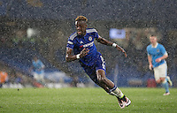 Tammy Abraham of Chelsea U18 as snow falls during the FA Youth Cup FINAL match between Chelsea U18 and Man City U18 at Stamford Bridge, London, England on 27 April 2016. Photo by Andy Rowland.