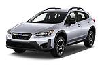 2021 Subaru Crosstrek - 5 Door SUV Angular Front automotive stock photos of front three quarter view