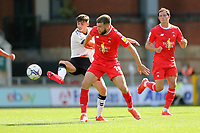 Aaron Drinan of Leyton Orient and Jamie Bowden of Oldham Athletic during Leyton Orient vs Oldham Athletic, Sky Bet EFL League 2 Football at The Breyer Group Stadium on 11th September 2021