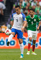 Mexico City, Mexico - Sunday June 11, 2017: Bobby Wood during a 2018 FIFA World Cup Qualifying Final Round match with both men's national teams of the United States (USA) and Mexico (MEX) playing to a 1-1 draw at Azteca Stadium.