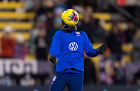 COLUMBUS, OH - NOVEMBER 07: Carli Lloyd #10 of the United States warms up during a game between Sweden and USWNT at Mapfre Stadium on November 07, 2019 in Columbus, Ohio.