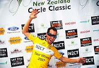 Tour champion Joe Cooper (IsoWhey Sports SwissWellness) after stage five of the NZ Cycle Classic UCI Oceania Tour in Masterton, New Zealand on Tuesday, 26 January 2017. Photo: Dave Lintott / lintottphoto.co.nz