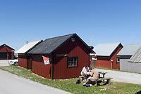 Fischerhütten im Hafen von Lickershamn auf der Insel Gotland, Schweden, Europa<br /> Fisherman's huts, port of Lickershamn, Isle of Gotland, Sweden