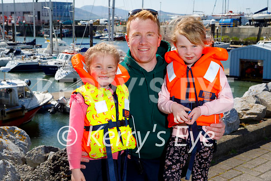 Ready to enjoy some sailing in Fenit on Sunday, l to r: Anna, Rob and Ava Durran