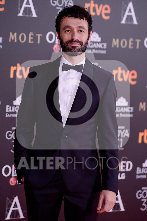 Rodrigo Sorogoyen attends to the Red Carpet of the Goya Awards 2017 at Madrid Marriott Auditorium Hotel in Madrid, Spain. February 04, 2017. (ALTERPHOTOS/BorjaB.Hojas)