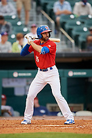Buffalo Bisons third baseman Jason Leblebijian (26) at bat during a game against the Lehigh Valley IronPigs on June 23, 2018 at Coca-Cola Field in Buffalo, New York.  Lehigh Valley defeated Buffalo 4-1.  (Mike Janes/Four Seam Images)