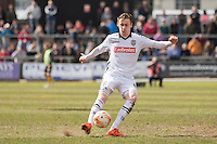 Elliott Hewitt of Notts County during the Sky Bet League 2 match between Newport County and Notts County at Rodney Parade, Newport, Wales on 30 April 2016. Photo by Mark  Hawkins / PRiME Media Images.