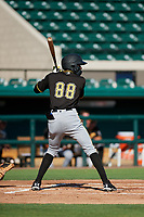 Pittsburgh Pirates Juan Pie (88) at bat during a Florida Instructional League game against the Detroit Tigers on October 6, 2018 at Joker Marchant Stadium in Lakeland, Florida.  (Mike Janes/Four Seam Images)