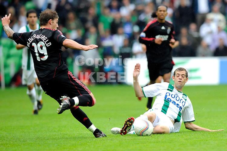 voetbal fc groningen - ajax  seizoen 2009-2010 02-08-2009 toby anderweireld met nicklas pedersen.