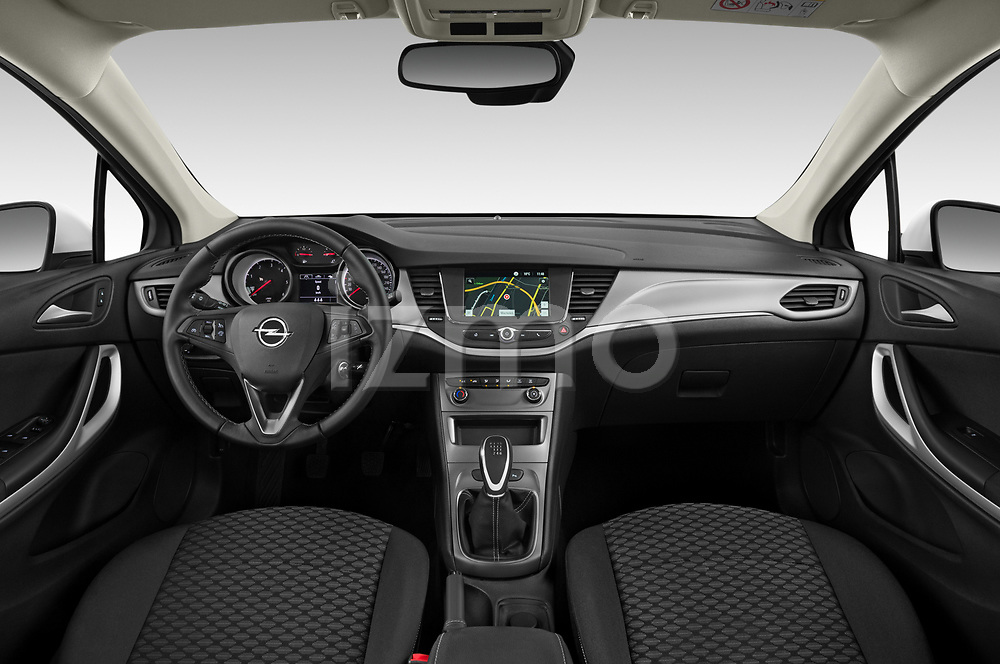 Stock photo of straight dashboard view of 2020 Opel Astra Edition 5 Door Hatchback Dashboard