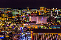 Las Vegas, Nevada at Night, from the Eiffel Tower.