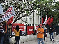 Recife (PE), 08/06/2021 - Protesto-Recife - Servidores da prefeitura do Recife fazem protesto na Câmera dos Vereadores nesta terça-feira (08) contra a reforma da previdência encaminhada aos vereadores pelo o Prefeito João Campos.