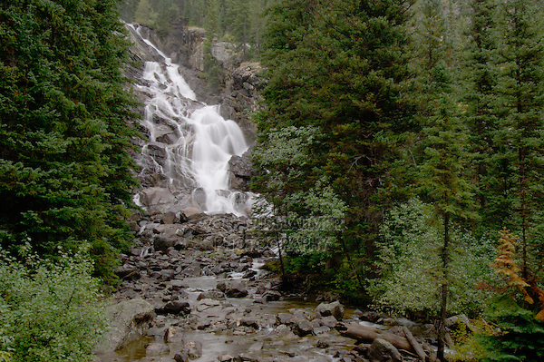 Hidden Falls, Jenny Lake, Grand Teton NP,Wyoming, USA..