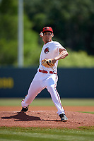 Florida Fire Frogs starting pitcher Freddy Tarnok (25) during a Florida State League game against the Jupiter Hammerheads on April 11, 2019 at Osceola County Stadium in Kissimmee, Florida.  Jupiter defeated Florida 2-0.  (Mike Janes/Four Seam Images)