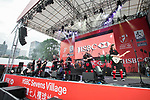 The Red Hot Chilli Pipers concert at the HSBC Sevens Village of the HSBC Hong Kong Rugby Sevens 2017 on 07 April 2017 in Hong Kong Stadium, Hong Kong, China. Photo by King Chung Fung / Power Sport Images